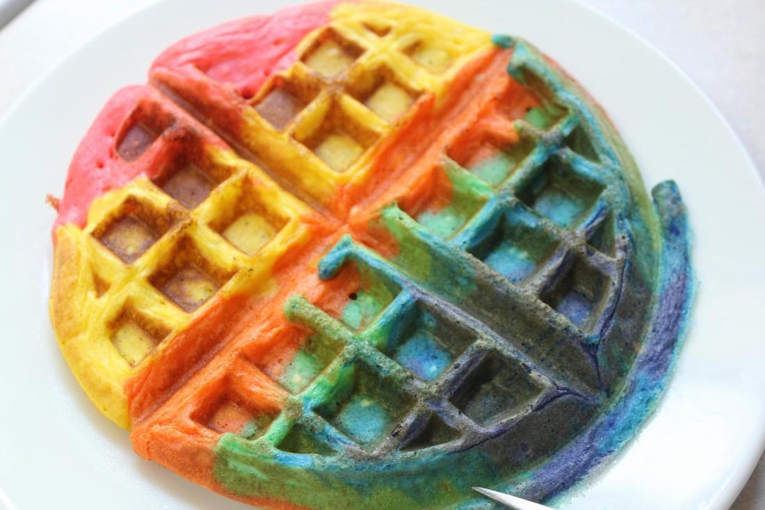 tie dye waffle